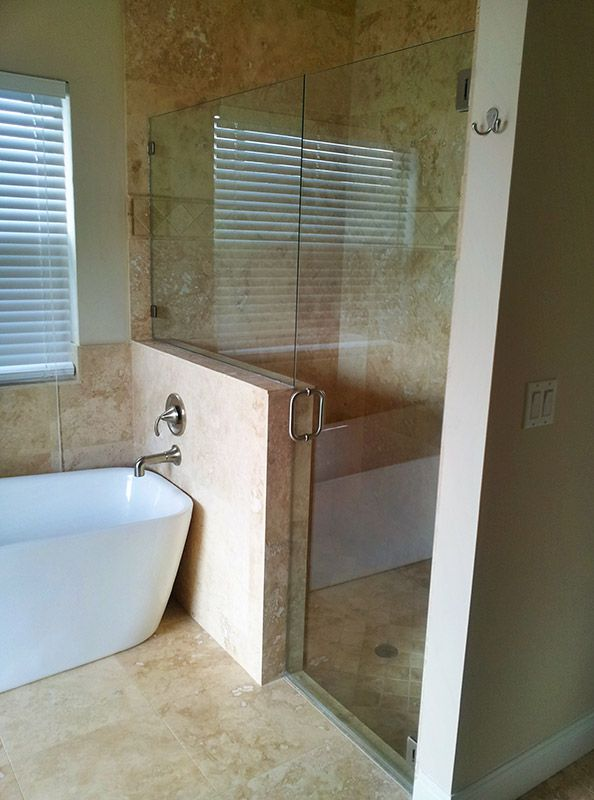Frameless shower doors Inline Door & Panel