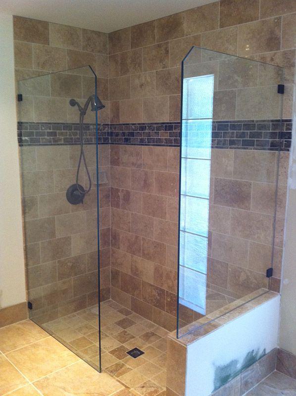 Frameless shower doors shower screens